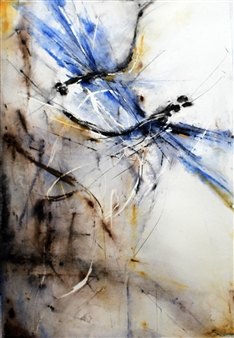 Dana Ingesson - Everyday Blues Watercolor on Paper, Paintings