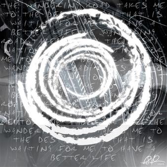 Anina E. Hathaway - Circle of Time (The Wandering Road) Digital Print on Aluminium, Digital Art