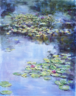 Nadia Lassman - Giverny Acrylic on Canvas, Paintings