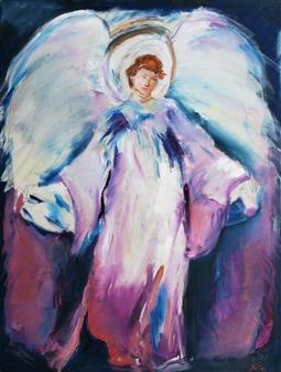 Dede Schuhmacher - Archangel Gabriel Oil on Canvas, Paintings