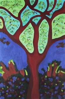 Claudia C Forero - Alameda. Flora and Fauna. Acrylic on Canvas, Paintings