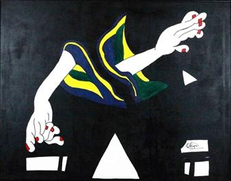 Vega Aramburu - Composition of Hands Acrylic on Canvas, Paintings
