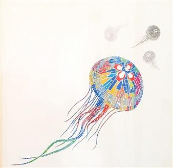 Yoshiki Uchida - Jellyfish Mixed Media, Mixed Media