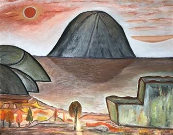 Merab Kardava - Planet X Oil on Canvas, Paintings