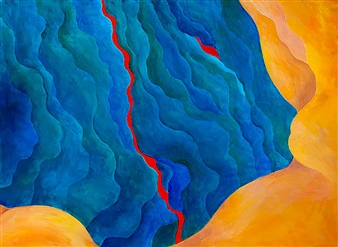 Jerry Anderson - Turbulence Acrylic on Canvas, Paintings
