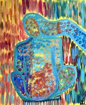 Sierra Barnes - Breathing Deep Acrylic on Canvas, Paintings