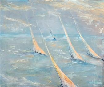Arttiana - Gentle Wave Oil on Canvas, Paintings
