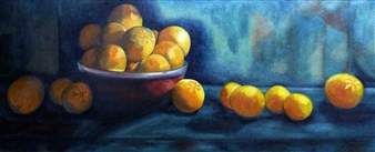 Maribel Matthews - Oranges Oil on Canvas, Paintings