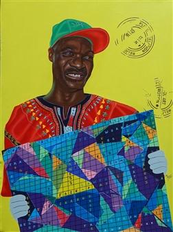 Roberto Tores Pare Mouamfon - The Ambassador Acrylic on Canvas, Paintings