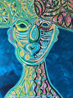 Katja van den Bogaert Anna K Art - To the Forgotten Energy Acrylic on Linen, Paintings
