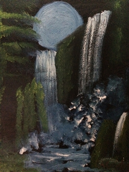 Aaron Cristofaro - Waterfall Oil on Canvas, Paintings