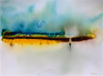 Rine Philbin - Birth Watercolor on Paper, Paintings