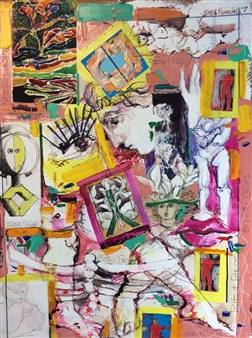 Michael Dolen - A Journal: Bits and Pieces Mixed Media on Paper, Mixed Media