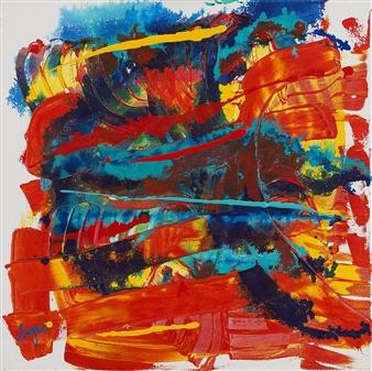 David Syre - Energy #1 Acrylic on Canvas, Paintings