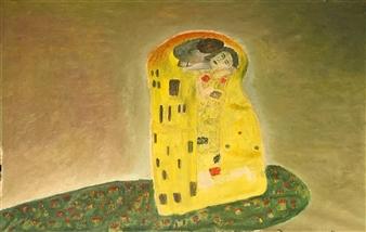 Merab Kardava - Deep Kiss Oil on Canvas, Paintings