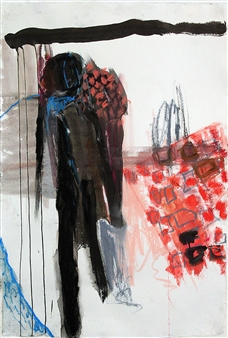 Riedstra Visual Artist - Zapp Notes I Ink, Soft Pastel, & Gouache on Khadi Paper, Mixed Media