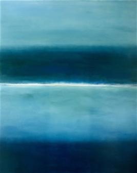 María de Echevarría - Blue Oil over Acrylic on Canvas, Paintings