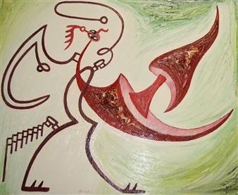 Jose Pedro Alonso Miralles - Ella Quería lo Prohibido Oil on Canvas, Paintings