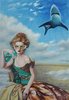 Helena Zyryanova - Danger Oil on Canvas, Paintings