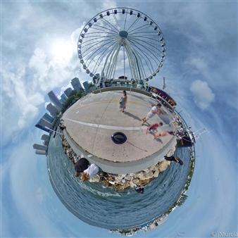Juan Murcia - Ferris Wheel Bayside Archival Pigment Print, Photography