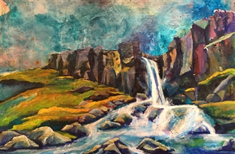 D. L. Brabander - New Destinations III Acrylic on Canvas, Paintings