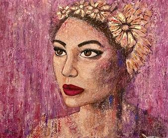 Hayam Elsayed - Light Hearted Acrylic on Canvas, Paintings