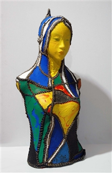 Heesu Choi - Outsider-H Acrylic on Sewing Jute, Sculpture