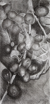 Maria Antonia Mena Lagos - Coffee Beans Dry-Point on Cotton Paper, Prints