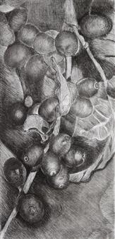 Maria Antonia Mena Lagos - Coffee Beans Dry-Point on Cotton Paper, Prints