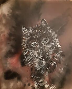 Anders Ekelund - Wolf Acrylic & Oil on Canvas, Paintings