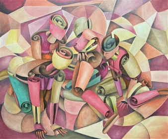 Don Kosta - The Muses Acrylic on Canvas, Paintings