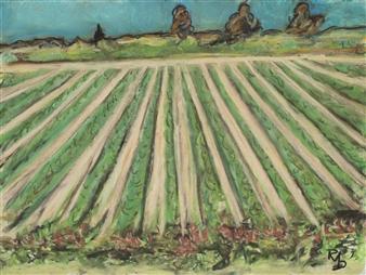 Raul Mariaca Dalence - Napa 2 Pastel on Canvas, Paintings
