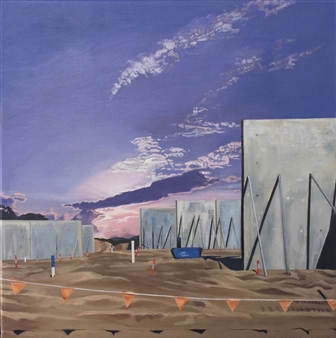 Sandra Guy - Casuarina Coles Construction Oil on Linen, Paintings