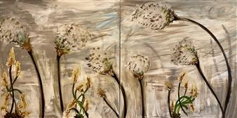 David Lionheart - Warm Wind Acrylic on Canvas, Paintings