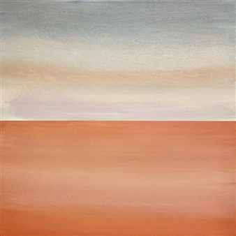 Chadwick - Coral Sky (Coral Sea) Acrylic on Wood Panel, Paintings