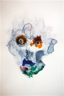 Jennifer Morrow - Unnamed No18 Watercolor & Ink on Paper, Paintings