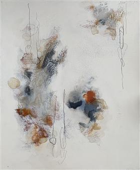 Alissa Van Atta - Pulled Loose Threads Acrylic on Canvas, Paintings