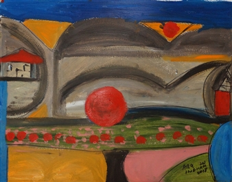 Ana Ingham - Neighborhood 1 Oil on Canvas, Paintings