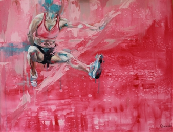 Daniella Queirolo - Go Edit! Oil & Acrylic on Canvas, Paintings