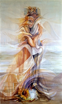 Maggie G. Moran - Made with Clay 1 Oil on Canvas, Paintings