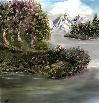 Tsila Mackay - When Nature Just Flows By Oil on Canvas, Paintings