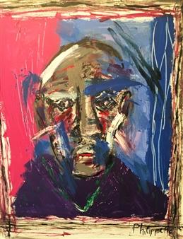 Philippe Thélin - Selfie III Acrylic on Canvas, Paintings