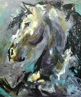 Margaret Culver - Enchanted Acrylic on Canvas, Paintings