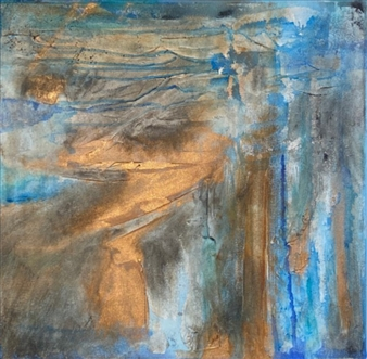 Gia A Sabatini - Grounded Mixed Media & Acrylic on Canvas, Mixed Media