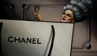 Alejandro (Alexati) Carrillo - Fancy Pleasures Oil on Canvas, Paintings