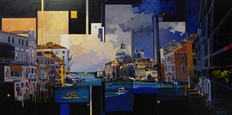 Josep Francés Anaya - Venezia Oil on Canvas, Paintings