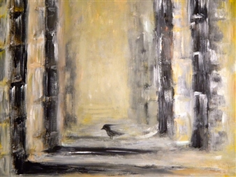 Karen Kanas - Ruins Acrylic on Canvas, Paintings