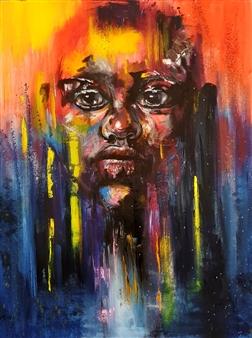 Lillian Gray - Siyabonga Oil on Canvas, Paintings