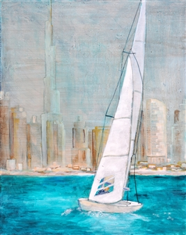Jutta Schulte - Dubai Acrylic on Canvas, Paintings