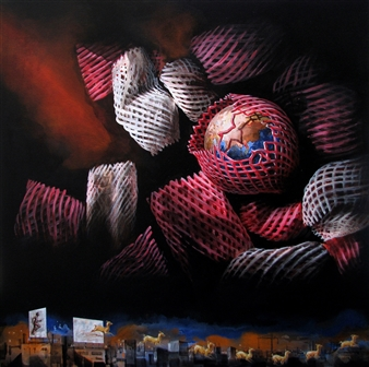 Venugopal V.G. - Enfold-Unfold Acrylic on Canvas, Paintings